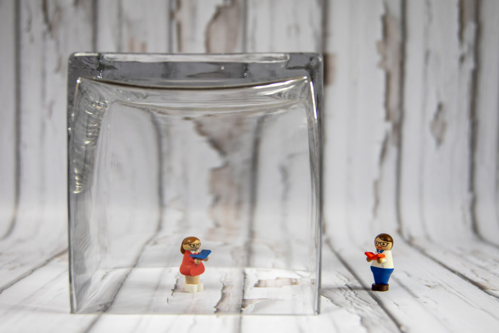 girl and boy were separated with the glass, needgames for couples